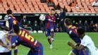 El brutal golazo de Messi de falta directa ante el Valencia