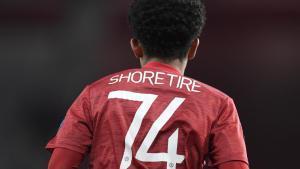 Shola Shoretire, en el partido de Europa League ante la Real Sociedad