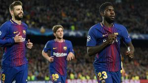 LACHAMPIONS | FC BARCELONA - ROMA (4-1): El gol con mensaje de Umtiti