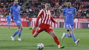 Jonatan Soriano, en un partido con el Girona