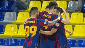 Los jugadores del Barça celebran uno de los goles ante Inter