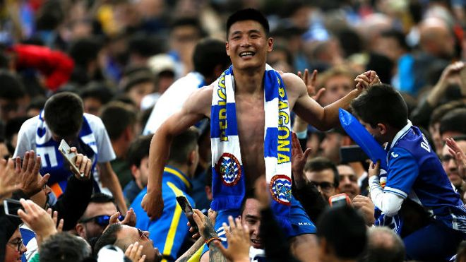 Wu Lei se convirtió en héroe blanquiazul gracias a este gol