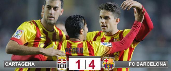 El Barça remontó el gol inicial de Fernando