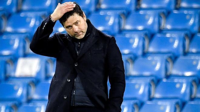 Mauricio Pochettino, durante el duelo en el Eithad Stadium