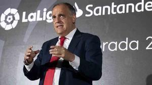 Javier Tebas, presidente de LaLiga, quiere imponer su fecha para el clásico