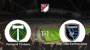 Reparto de puntos entre el Portland Timbers y el San Jose Earthquakes (1-1)