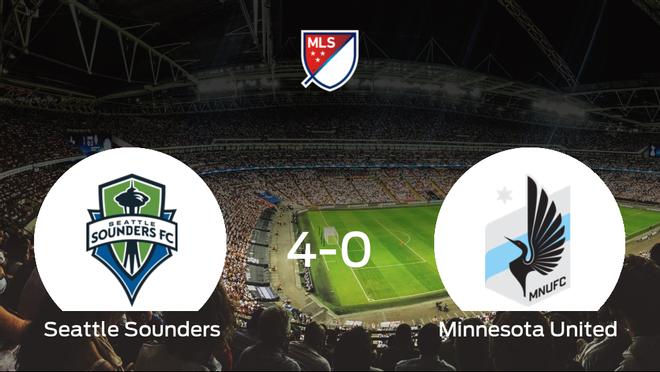 El Seattle Sounders suma tres puntos tras pasar por encima del Minnesota United (4-0)