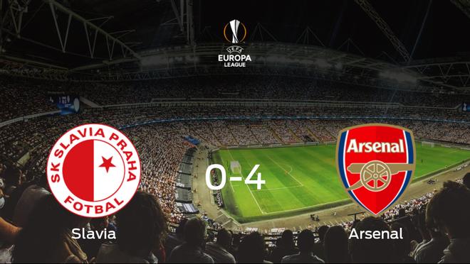 El Arsenal arrolla al Slavia Praga en el duelo de vuelta de cuartos de final (0-4)