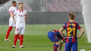 Ivan Rakitic enfrentándose al Barça en la 5ª jornada de LaLiga