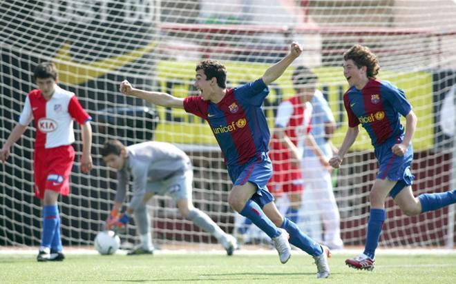 Sergi Roberto ya destacaba cuando jugaba en los equipos inferiores del Barça
