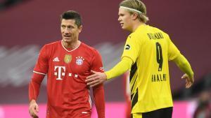Robert Lewandowski y Erling Haaland, protagonistas absolutos de la jornada 24 de la Bundesliga