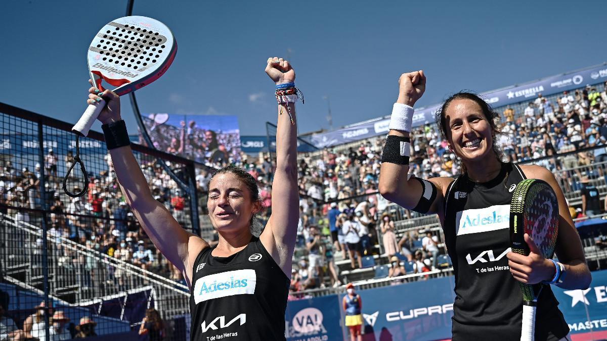 Salazar y Triay celebran su victoria en Valladolid