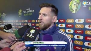 Vea las declaraciones íntegras en las que Leo Messi cargó contra la CONMEBOL