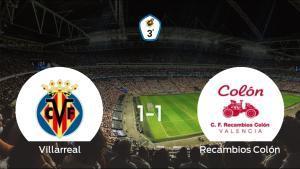 El Villarreal C y el Recambios Colón empatan a uno en el Ciudad Deportiva del Villarreal- Miralcamp