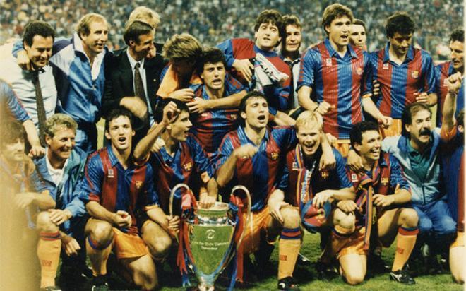 El Dream Team celebra la conquista de la Copa de Europa el 20 de mayo de 1992 en Wembley