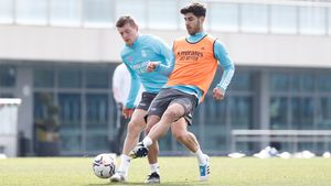 Espectaculares definiciones en el entrenamiento del Madrid