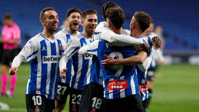 Imagen de archivo de los jugadores del Espanyol