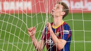 De Jong, durante un partido del Barça