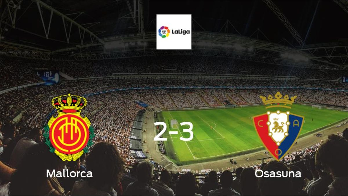 Osasuna take all 3 points, after 3-2 victory against Mallorca