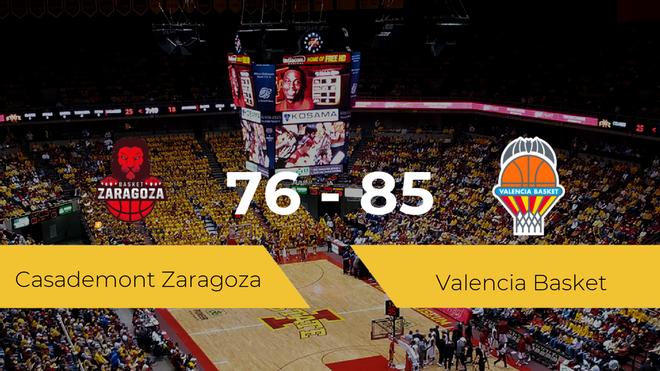 Triunfo del Valencia Basket ante el Casademont Zaragoza por 76-85