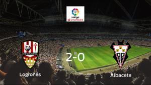 El Logroñés se lleva tres puntos después de derrotar 2-0 al Albacete