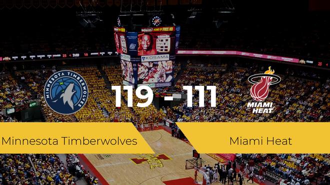 Minnesota Timberwolves se lleva la victoria frente a Miami Heat por 119-111