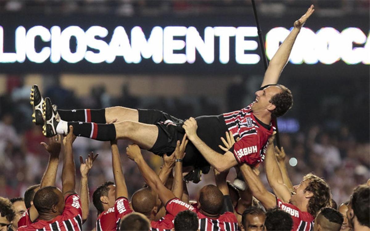 Rogerio Ceni dijo adiós como un mito del Sao Paulo