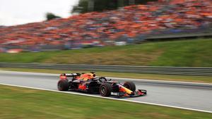 La afición neerlandesa, animando a Verstappen en el Red Bull Ring