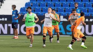Imagen de archivo de jugadores del Valencia