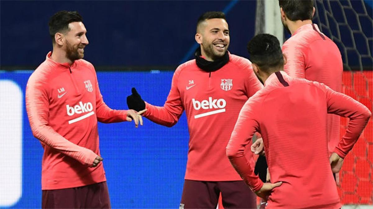 El Barça se ejercitó en el Giuseppe Meazza
