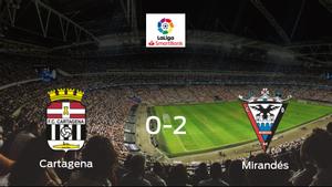 El CD Mirandés se lleva tres puntos a casa tras vencer 0-2 al Cartagena