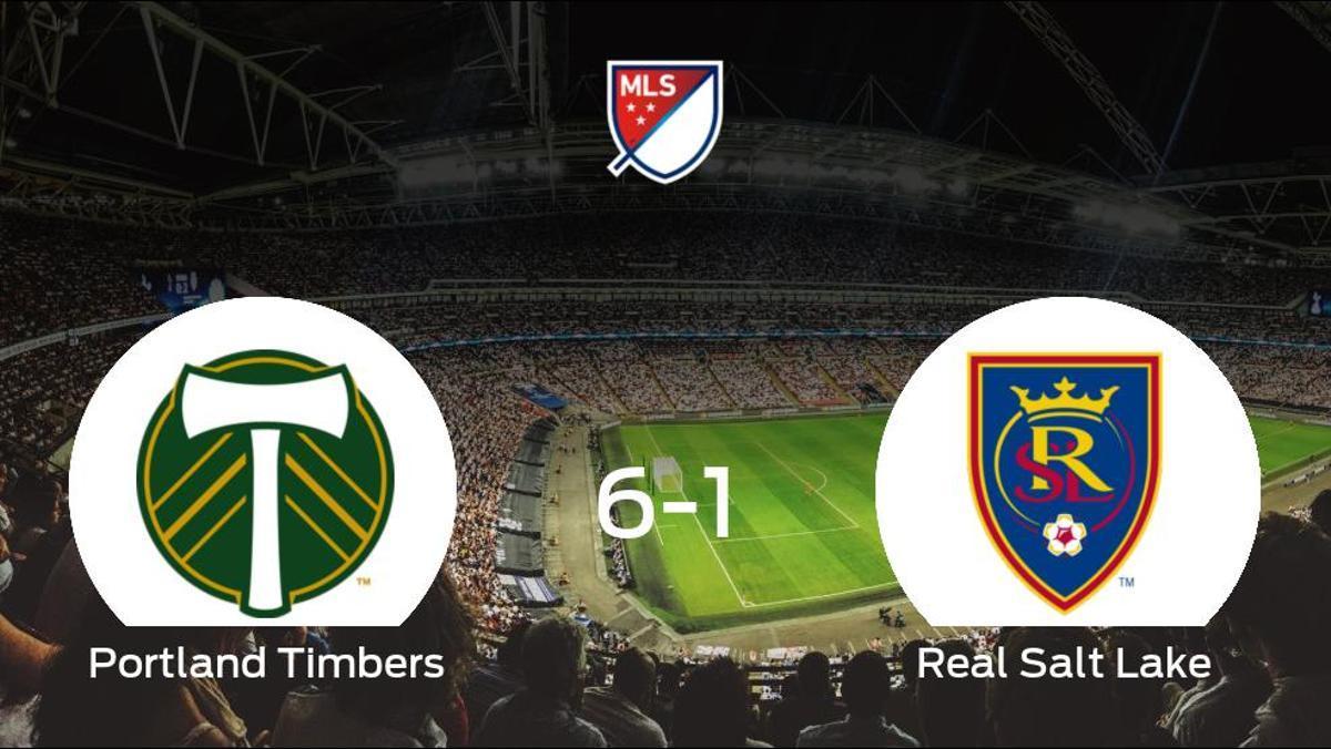 El Portland Timbers se queda con los tres puntos frente al Real Salt Lake (6-1)