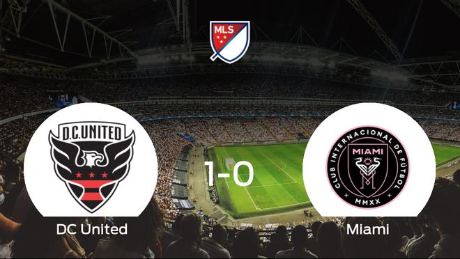 El DC United consigue la victoria frente al Inter de Miami en el segundo tiempo (1-0)