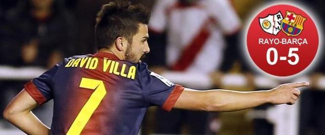 Villa abrió el camino de la goleada