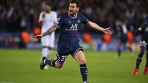 Messi celebró su gol a lo grande