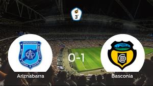 El Basconia se lleva el triunfo después de vencer 0-1 al Ariznabarra