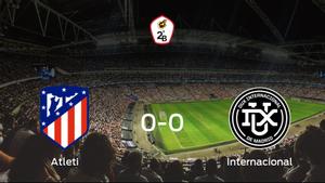 El Atlético B y el Internacional se reparten los puntos en un partido sin goles (0-0)