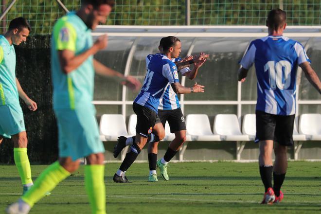 Raúl De Tomás se convirtió en el primer goleador de la pretemporada perica