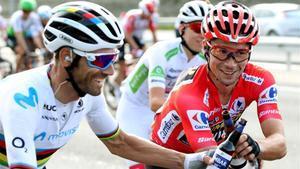 Valverde y Roglic, segundo y primero de La Vuelta 2019