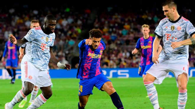 Coutinho reapareció con el Barça frente al Bayern