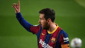 Messi, el mejor goleador de las grandes ligas europeas en el arranque del año 2021