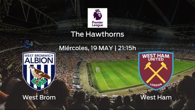 Jornada 37 de la Premier League: previa del duelo West Bromwich Albion - West Ham
