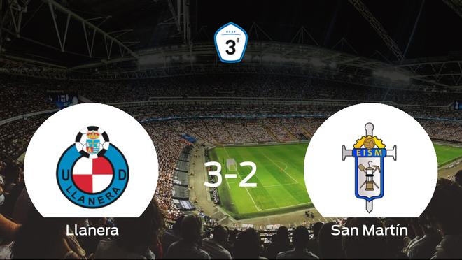 El Ud Llanera se hace fuerte en casa y gana al San Martín (3-2)