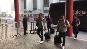 Así llegó la selección española al hotel Hilton Wembley