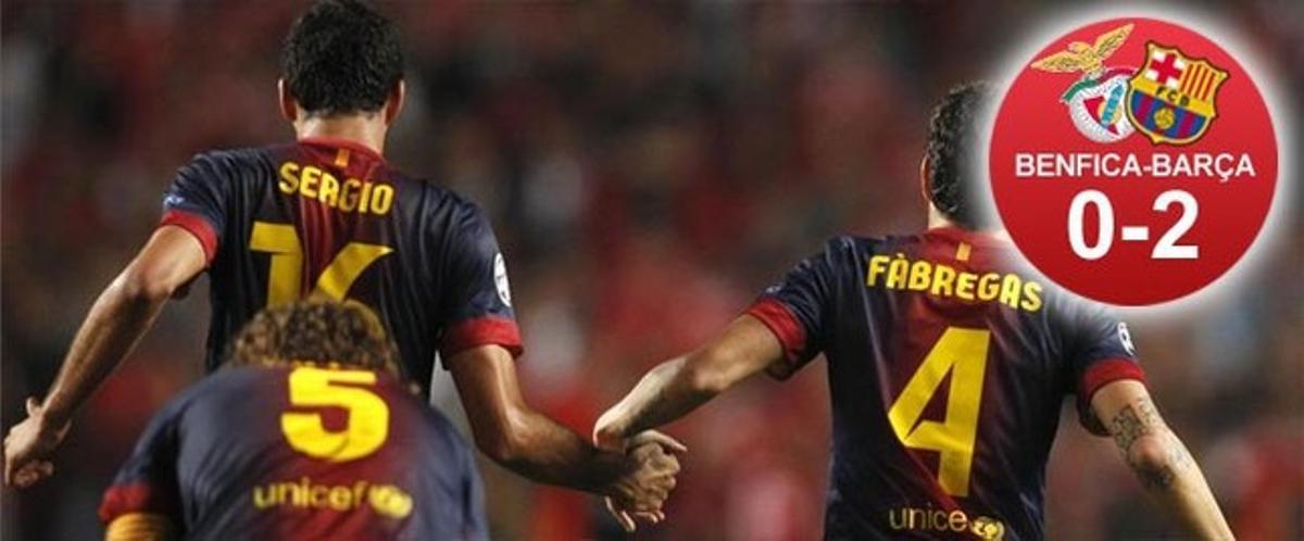 El Barça ganó en Lisboa, pero la lesión de Puyol empañó el triunfo