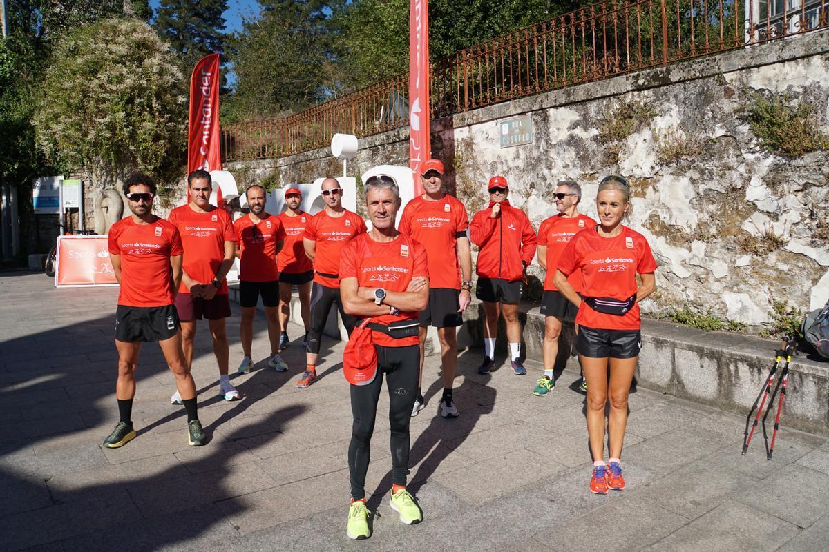 El embajador de Banco Santander Martín Fiz correrá las cinco últimas etapas del Camino, en el año del Xacobeo