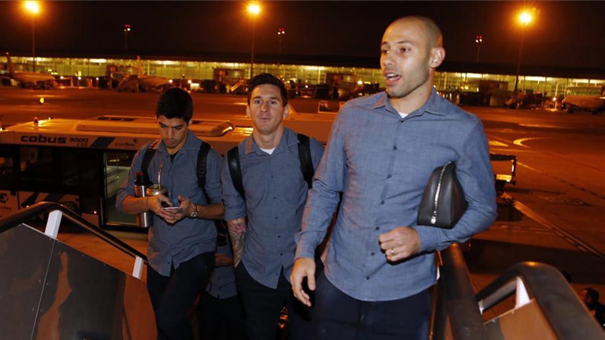 Mascherano, Messi y Luis Suárez mostraron la ambición que tiene el equipo por dar la vuelta a la situación que se vivió en Málaga y obtener un buen resultado en el partido de ida en Turín