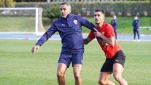 José Gomes, durante un entrenamiento