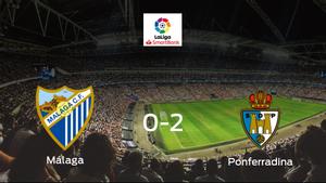 La SD Ponferradina se lleva los tres puntos frente al Málaga (0-2)