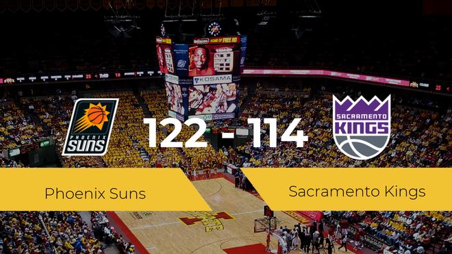 Phoenix Suns se impone a Sacramento Kings por 122-114